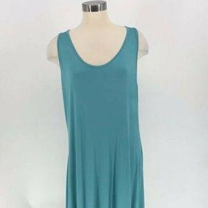 Always for Me Women's Dress Size 1X Teal Aqua Slee